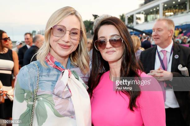 Belinda Stronach and Tiffany Steer attend the 2020 Pegasus World Cup Championship Invitational Series at Gulfstream Park on January 25 2020 in...
