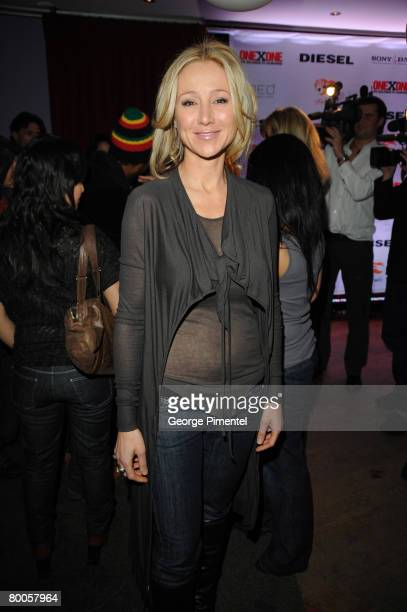 Belinda Stronach attends the ONEXONE/Diesel Reception for initiative Yele Haiti at MED Bar and Grill in Montreal Canada on February 282008