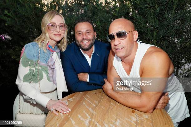 Belinda Stronach Dave Grutman and Vin Diesel attend the 2020 Pegasus World Cup Championship Invitational Series at David Grutman's LIV Stretch...