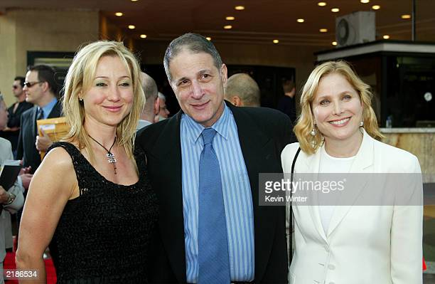 Belinda Stronach the President and chief officer of Magna International the owners of the Santa Anita race track and actress Deborah Raffin with her...