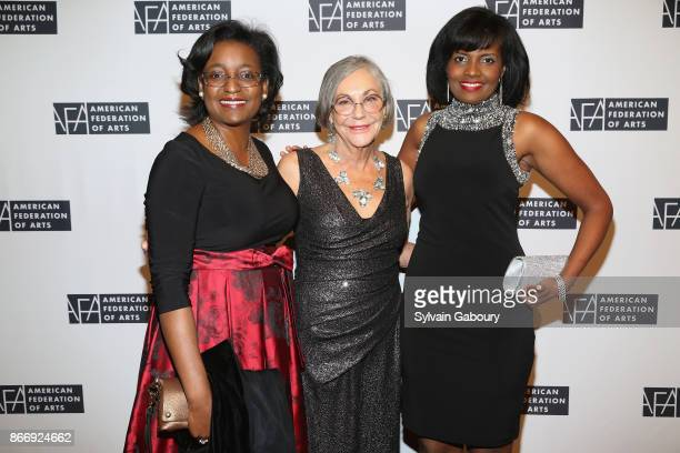 Belinda Tate Alice Walton and Pauline Willis attend the American Federation of Arts 2017 Gala and Cultural Leadership Awards at The Metropolitan Club...