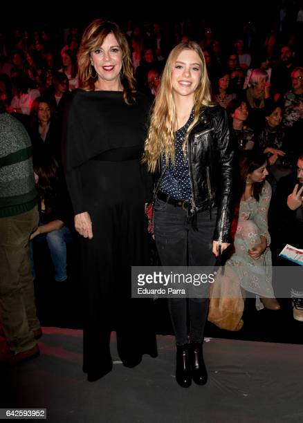 Belinda Washington and daughter Daniela Lazaro attend the front row of Andres Sarda show during Mercedes Benz Fashion Week Madrid Autumn / Winter...