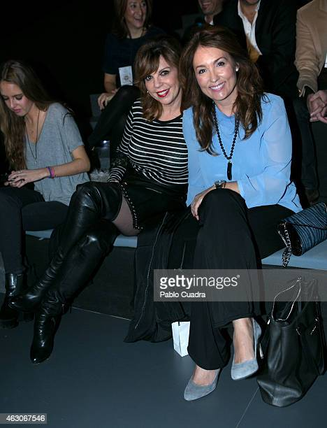 Belinda Washington and Miriam Camino attend the catwalks during Mercedes Benz Madrid Fashion Week Fall/Winter 2015/16 at Ifema on February 9 2015 in...