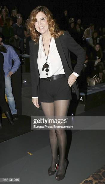 Belinda Washington attends a fashion show during the Mercedes Benz Fashion Week Madrid Fall/Winter 2013/14 at Ifema on February 18 2013 in Madrid...