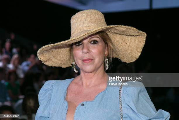 Belinda Washington attends the Andres Sarda fashion show at Mercedes Benz Fashion Week Madrid Spring/ Summer 2019 on July 9 2018 in Madrid Spain