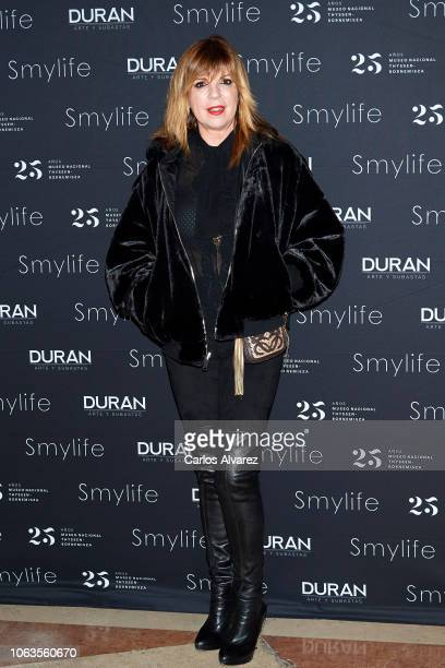 Belinda Washington attends the Smylife collection Beauty Art IV charity auction at the Thyssen Museum on November 19 2018 in Madrid Spain