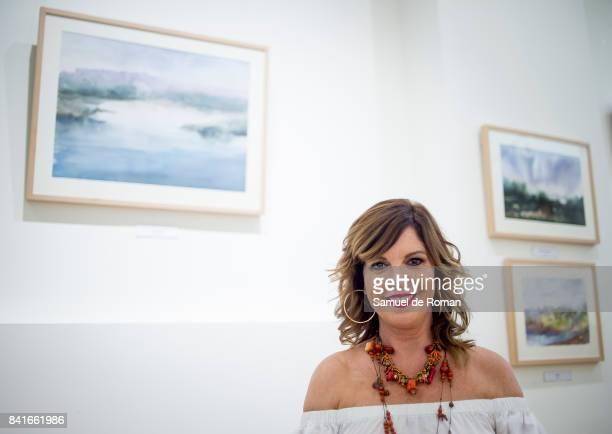 Belinda Washington inaugurates painting exhibition on September 1 2017 in Madrid Spain