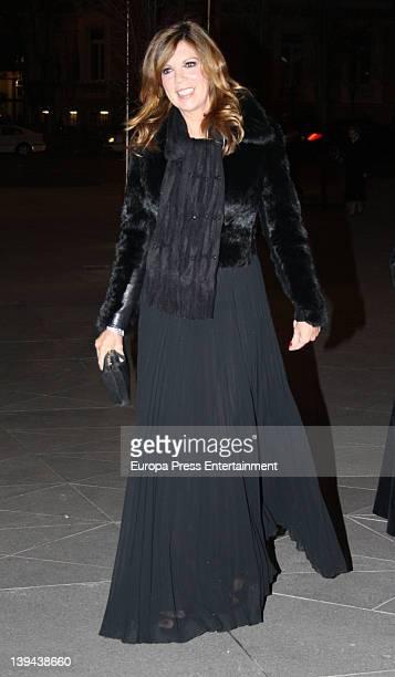 Belinda Washington is seen arriving at a party at Palacio de Cibeles on February 20 2012 in Madrid Spain