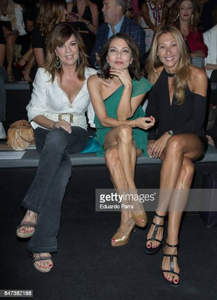 Belinda Washinton Fabiola Toledo and Monica Pont attend the Ulises Merida catwalk at Ifema on September 15 2017 in Madrid Spain
