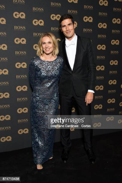 Beline Dolat and Awarded as Media Man of the year Mathieu Gallet attend the GQ Men Of The Year Awards 2017 at Le Trianon on November 15 2017 in Paris...