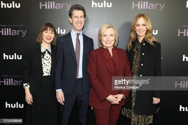 Belisa Balaban Craig Erwich Hillary Rodham Clinton and Dana Walden attend Hulu's Hillary NYC Premiere on March 04 2020 in New York City