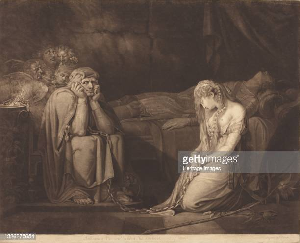 Belisane and Parcival under the Enchantment of Urma, 1782. Artist John Raphael Smith.