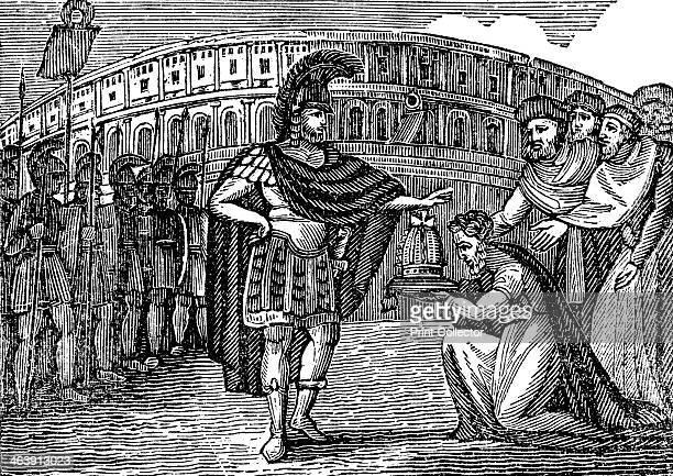 Belisarius , Byzantine general under Justinian I, 540 . Belasarius refusing the crown of their kingdom in Italy offered to him by the Goths in 540....