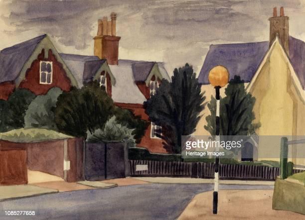 Belisha beacon circa 1951 Artist Shirley Markham