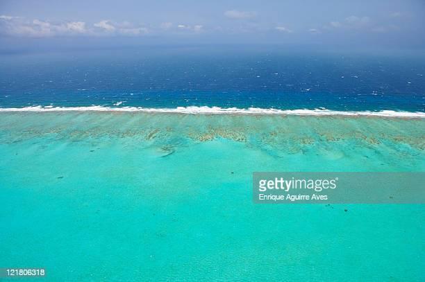 Belize Barrier Reef, Aerial view, Caribbean Sea