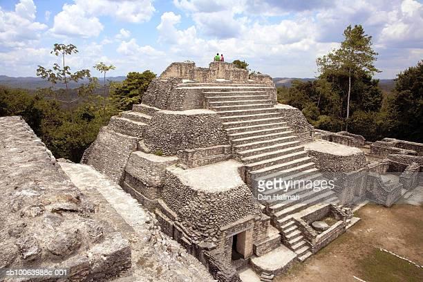 Belize, Caracol, ruins of Mayan pyramid