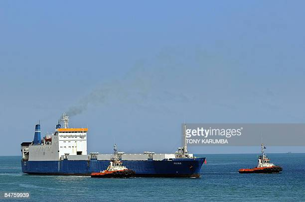 Belize flagged MV Faina is escorted to berth at the port of Mombasa on February 12 2009 Released almost a week ago now the Ukrainian MV Faina hobbled...