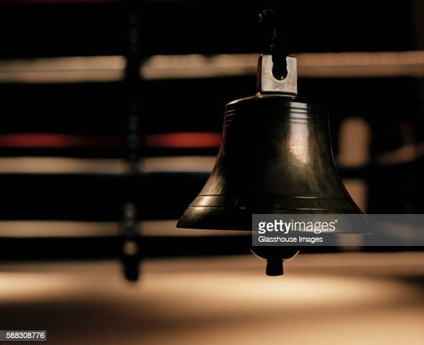 bell at boxing ring - boxing ring stock pictures, royalty-free photos & images
