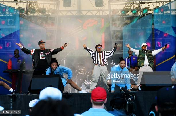 Bell Biv and DeVoe at The 1993 MTV Super Bowl Show at The Rose Bowl on January 31st 1993 in Anaheim CA