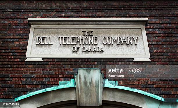 A Bell Canada sign is displayed outside of the company's office in Toronto Ontario Canada on Thursday July 28 2011 Bell is Canada's largest...