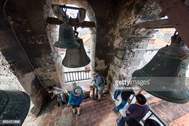 Bell in tower of San Cristobal Cathedral, Havana, Cuba