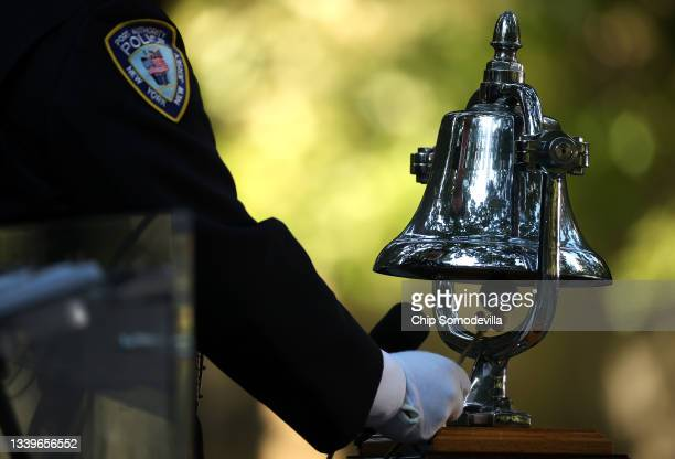 Bell is rung as the victims names are read during the annual 9/11 Commemoration Ceremony at the National 9/11 Memorial and Museum on September 11,...
