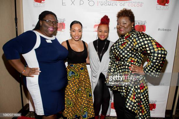 YT Bell Maria More Kim Fields and Aisha Taylor Issah attend the 2018 Sistahs in Business Expo at Dekalb Conference Center on October 13 2018 in...