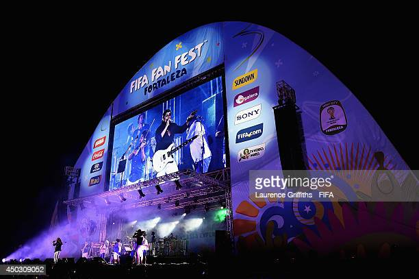 Bell Marques performs during the 2014 FIFA World Cup Fan Fest Kick off Event in Fortaleza on June 8 2014 in Fortaleza Brazil