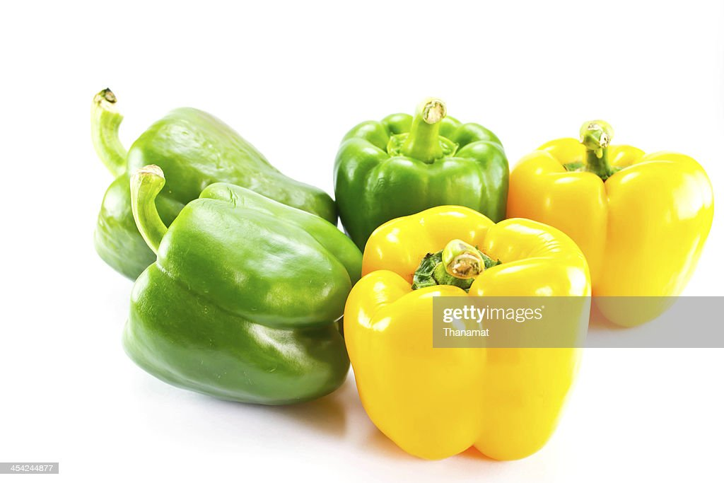 Bell pepper on  white background : Stock Photo