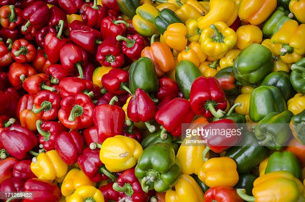 bell peppers colourful background