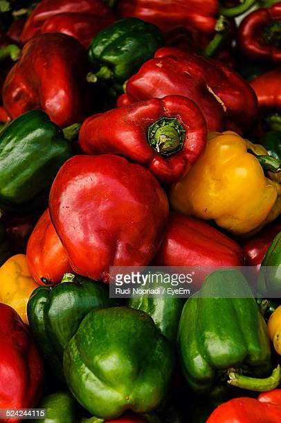 Bell Peppers For Sale At A Market Stall