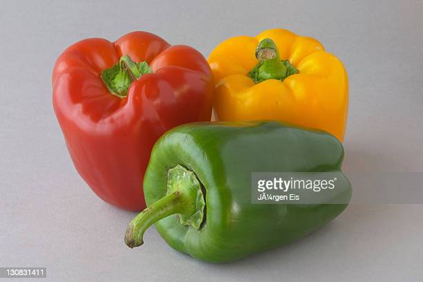 Bell PEPPERs, green, red, yellow