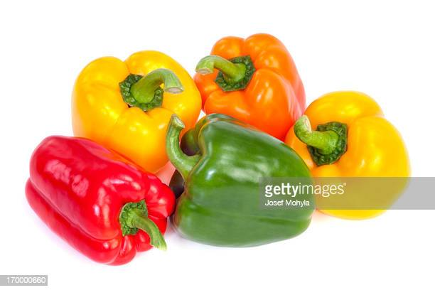 bell peppers - yellow bell pepper stock pictures, royalty-free photos & images