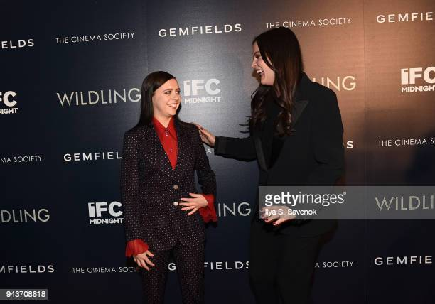 Bell Powley and Liv Tyler attend 'Wildling' New York Screening at iPic Theater on April 8 2018 in New York City
