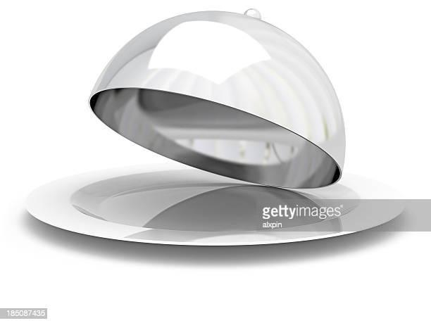 chapeau cloche de restaurant - dôme photos et images de collection