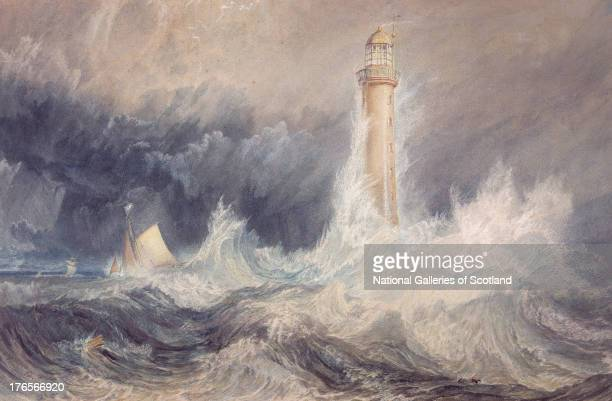 "Bell Rock Lighthouse, by Joseph Mallord William Turner, 1819. Watercolour and gouache with scratching out on paper"". Purchased by Private Treaty Sale..."