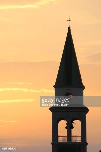 Bell Tower Against Sky During Sunset