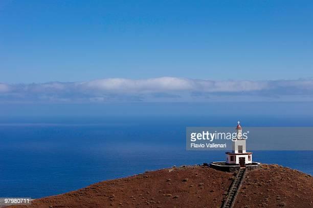 bell tower campanario de joapira contra el cielo azul, el hierro - islas canarias fotografías e imágenes de stock