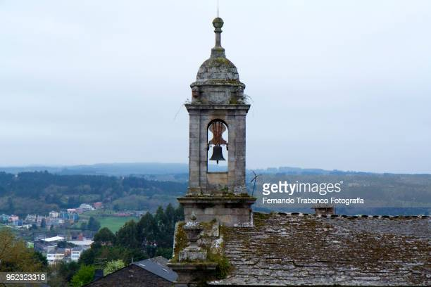 bell tower in church - santiago de compostela fotografías e imágenes de stock