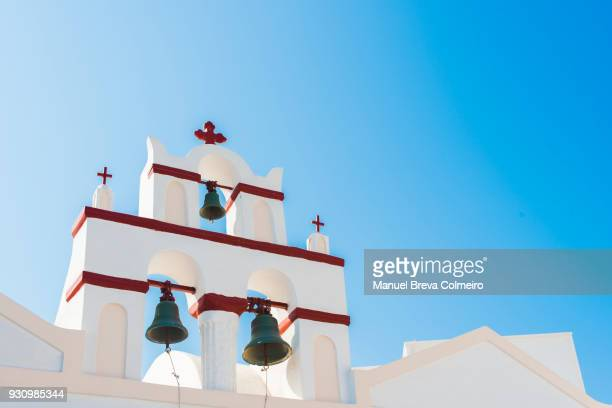 Bell tower in Santorini