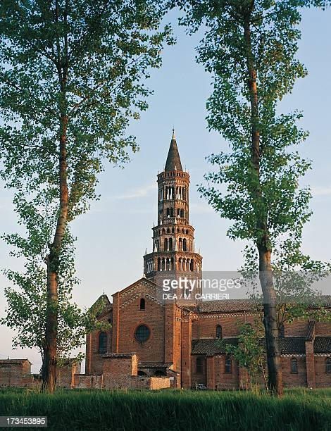 Bell tower known as Ciribiciaccola , Chiaravalle Abbey, Milan, Lombardy, Italy.