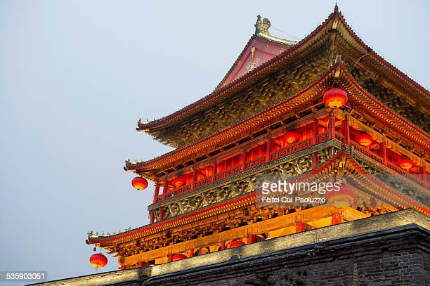Bell Tower Night landscape of City Xi'an Shaanxi