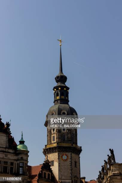 Bell tower of Holy Trinity cathedral by Gaetano Chiaveri Dresden Saxony Germany 18th century