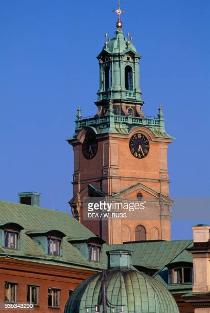 Bell tower of Stockholm Cathedral dedicated to St Nicholas Stockholm Sweden