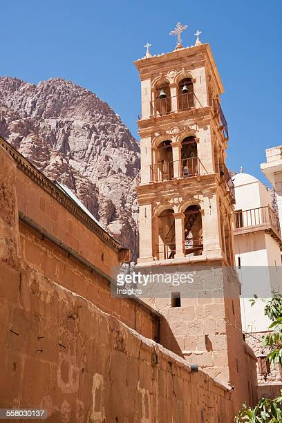 Bell Tower Of The Great Basilica Of The Transfiguration In The Holy Monastery Of St Catherine At Mount Sinai South Sinai Egypt