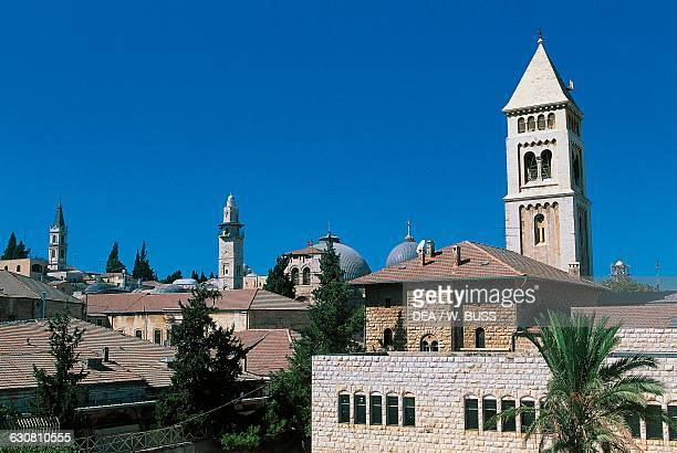 Bell tower of the Lutheran Church of the Redeemer Old City of Jerusalem Israel 19th century