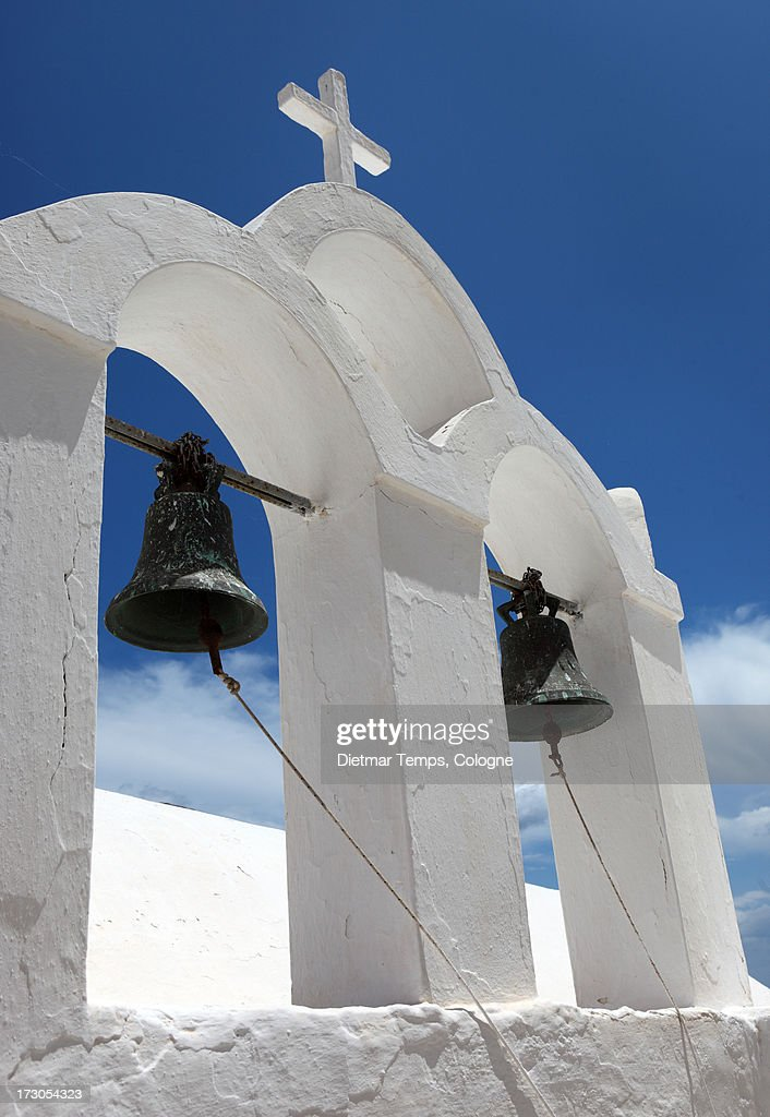 Bell tower, Oia, Santorini : Stock-Foto