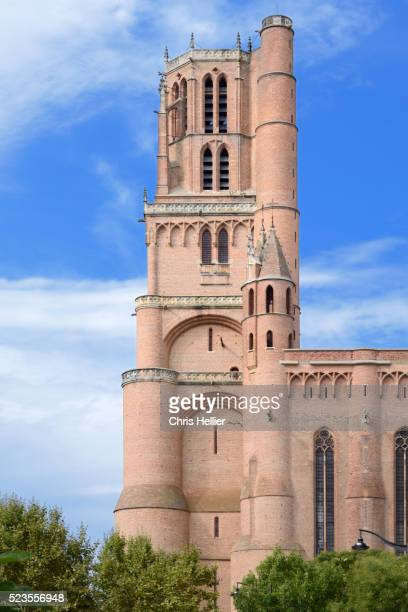 bell tower or belfry saint cecile cathedral albi france - アルビ ストックフォトと画像