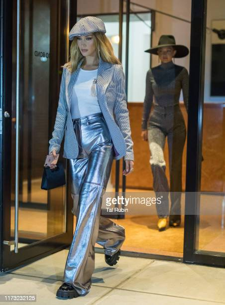 Bella and Gigi Hadid are seen on September 08, 2019 in New York City.