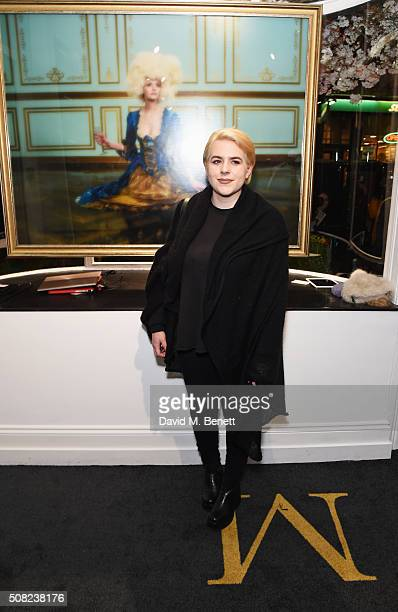 Bella Cruise attends a private view of Decadence the new exhibition by American photographer Tyler Shields at Maddox Gallery on February 3 2016 in...